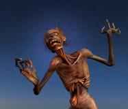 Pousser des cris perçants le zombi Photographie stock libre de droits