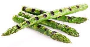 Pousses grillées d'asperge. photographie stock