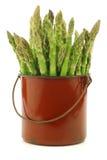 Pousses vertes fraîches d'asperge Photo libre de droits