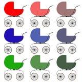 Poussettes colorées d'icônes trame Photos libres de droits