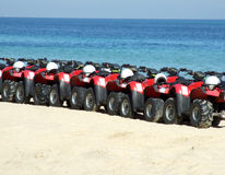 Poussettes de plage Images libres de droits