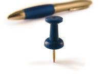 Poussez la broche et le crayon lecteur Photographie stock