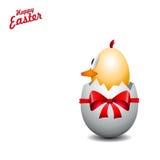 Poussin drôle d'oeufs de pâques, illustration de fond, Joyeuses Pâques c Photographie stock libre de droits