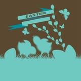 Poussins mignons sur Pâques Images stock