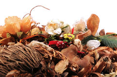 Pout pourri with flowers Royalty Free Stock Photos
