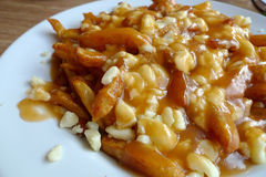 Poutine Photographie stock