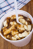 Poutine canadian meal Stock Image