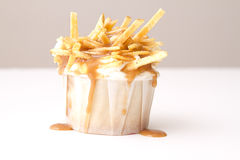 Poutine cupcake Royalty Free Stock Images