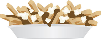 Poutine illustration Stock Photography