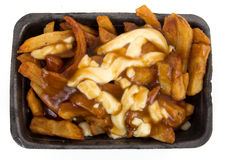 Poutine quebec meal with french fries Royalty Free Stock Image