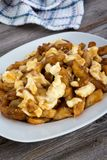 Poutine quebec meal with french fries Royalty Free Stock Photo