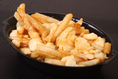 Poutine quebec meal Stock Photo