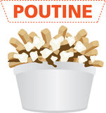 Poutine quebec meal illustration vector. Poutine quebec meal with french fries, gravy and cheese curds illustration vector royalty free illustration