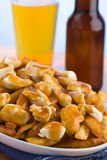 Poutine With Beer Royalty Free Stock Photos