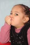 pouting девушки Стоковое Изображение