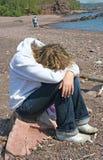 pouting подросток Стоковые Фотографии RF