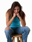 pouting предназначенный для подростков Стоковые Фото