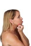 pouting 2 времен красивейший белокурый средний Стоковые Изображения