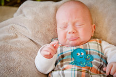 Pouting Baby Boy Stock Images