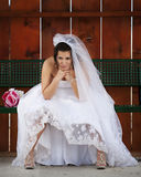 The Pouting Bride! Royalty Free Stock Photo