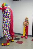 Pouting clown. Picture of a pouting clown waiting on his elder clown Stock Images