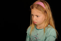 Pouting Girl Royalty Free Stock Photos
