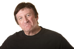 Pouting Mature Man Royalty Free Stock Photography