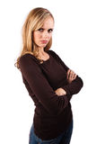 Pouting woman Stock Images