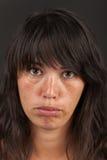 Pouting woman Stock Photo