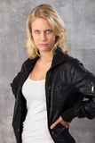 Pouting young blonde woman Stock Photo