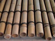 Poutres en bambou Image libre de droits