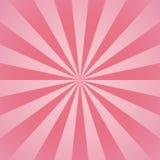 Poutres et lignes radiales roses fond girly d'abrégé sur rayons illustration stock