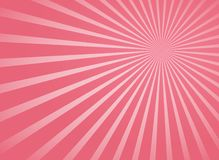 Poutres radiales roses et lignes abstraites fond de rayons illustration libre de droits