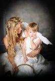 pouty ängel Arkivbilder