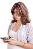 pouty gravid för telefon Arkivbilder