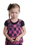 Pouty Laugh. A cute little girl that is pouting and laughing at the same time Royalty Free Stock Photos