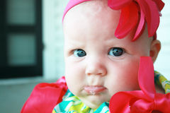 Pouty Lip. This Baby Girl already knows how to catch Daddy's attention Royalty Free Stock Photography