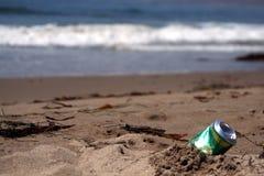 Pouvez à la plage Photo libre de droits