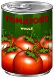 Pouvez des tomates entières Images stock