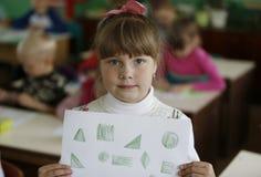 Pouvez dessiner des formes géométriques Photo libre de droits