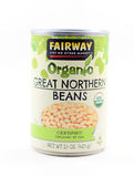 Pouvez haricots du nord organiques du fairway l'USDA des grands Images stock
