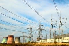 pouvoir électrique de centrale Images libres de droits