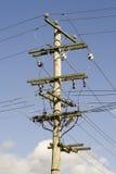 pouvoir électrique de pôle Photographie stock
