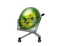 Pouvoir d'achat gonflé Photo stock