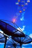 Pouvoir d'antenne parabolique photo stock