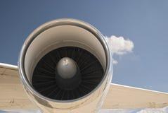 Pouvoir d'avion à réaction Images libres de droits