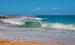 Pouvoir d'onde de l'océan pacifique Photographie stock