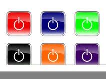 Pouvoir de boutons illustration stock