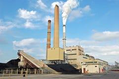 pouvoir de centrale allumé par charbon images libres de droits
