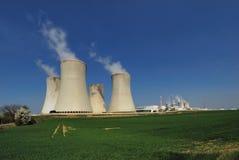pouvoir de centrale nucléaire Image libre de droits